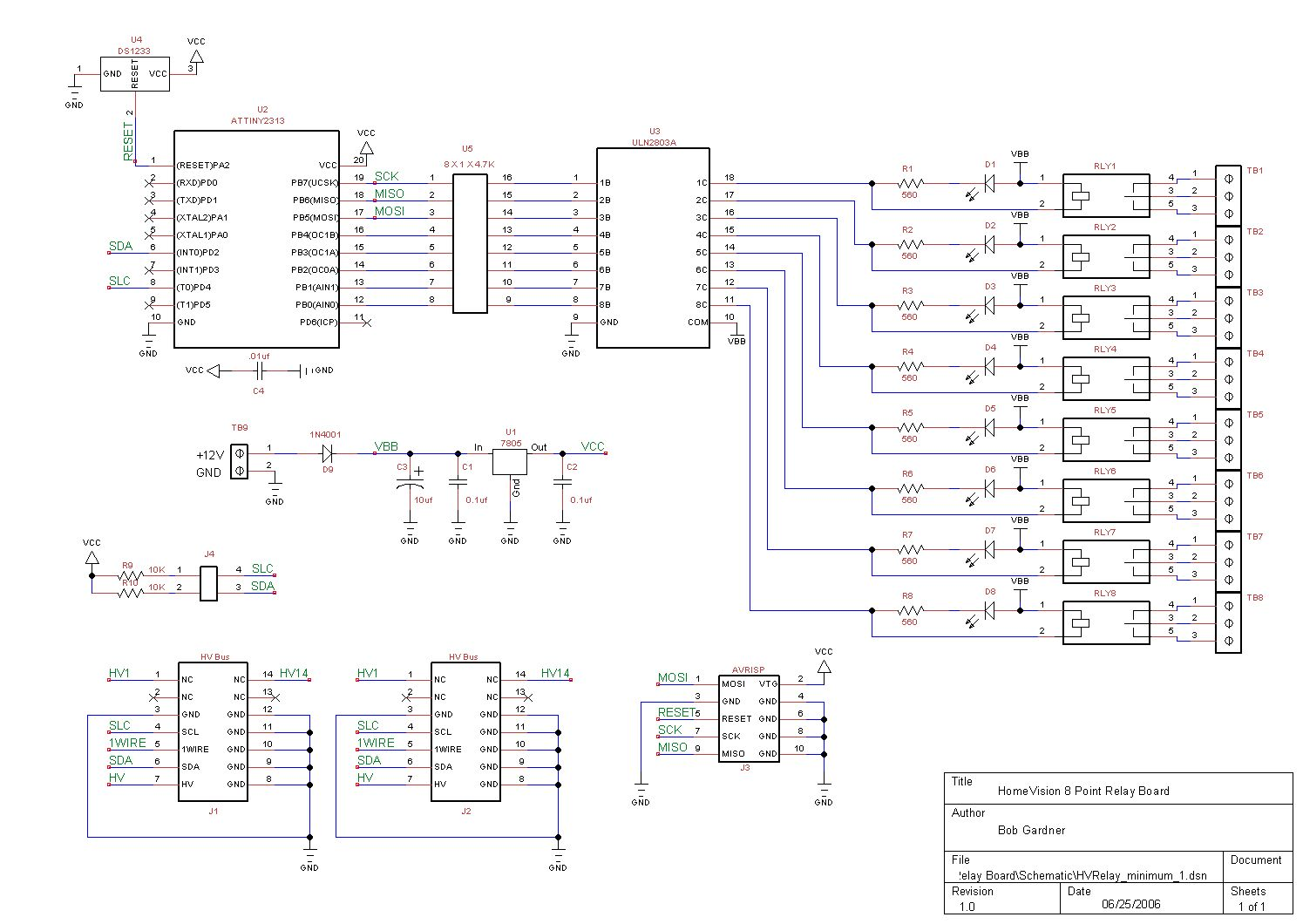 Homevision Hvrelay Board Relay Circuit Design Software Schematic Pcb